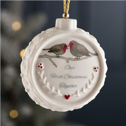Our First Christmas Ornament - Belleek