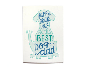 Hennel Paper Co. - Dog Dad Birthday Card - Aubergine