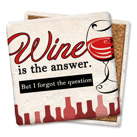 Wine Is the Answer Coaster - Tipsy Coasters & Gifts
