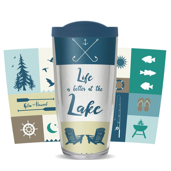 Life is Better at the Lake Tumbler - Freeheart