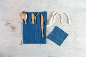 Dot and Army - Zero Waste Utensil Wrap with Cutlery, Straw and Napkin