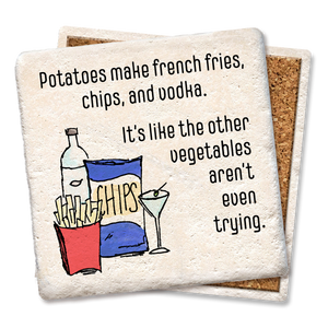 Potatoes Make French Fries Coaster - Tipsy Coasters & Gifts