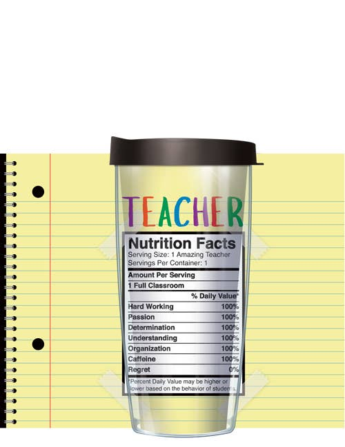 Teacher Facts Tumbler - Freeheart