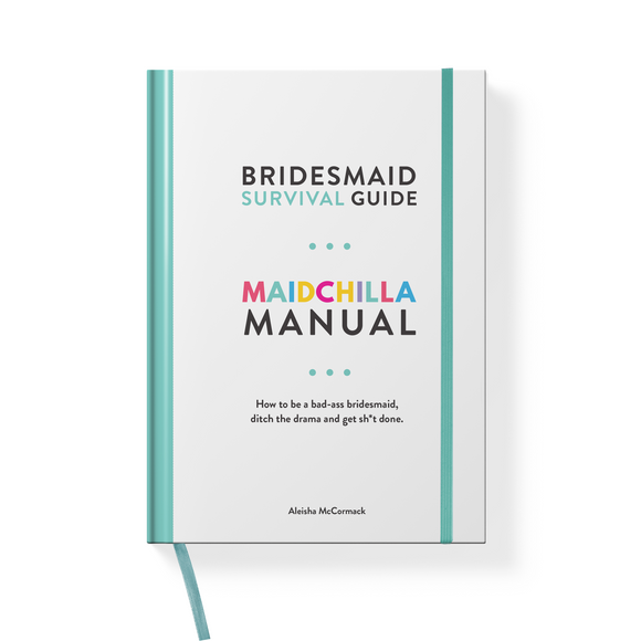 Bridechilla - Maidchilla Manual Bridesmaid Survival Guide - Aubergine