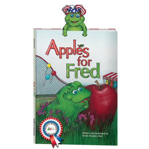 "Apple Pie Publishing - 9.25"" x 12.25"" Apples for Fred Book - Aubergine"