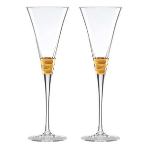 Gold Toasting Flutes Set of 2 - Truro