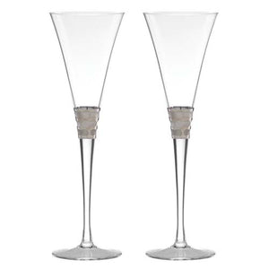 Platinum Toasting Flutes Set of 2 - Truro