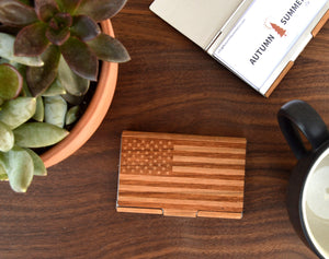Autumn Summer Co. - Business Card Holder | American Flag