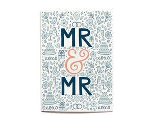 Hennel Paper Co. - Mr & Mr - Wedding Card - Aubergine