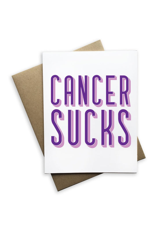 Cancer Sucks Notecard