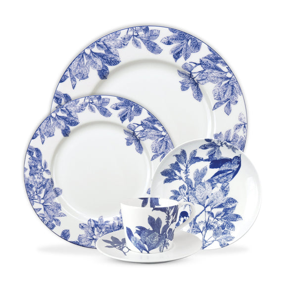 5 Pc Placesetting - Arbor Blue, Caskata