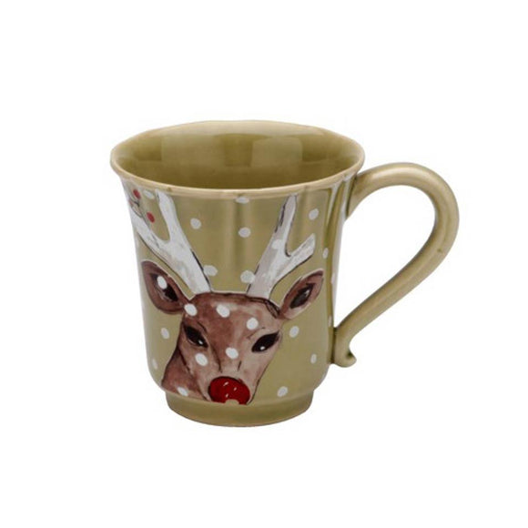 Green Mug - Deer Friends