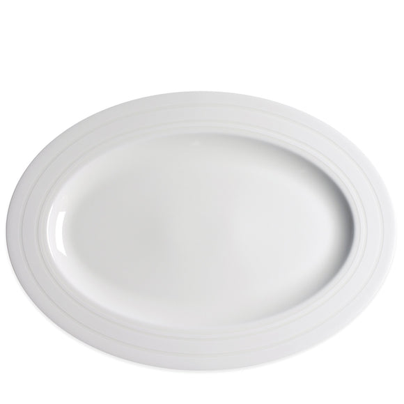 Medium Oval Platter- Cambridge Stripe