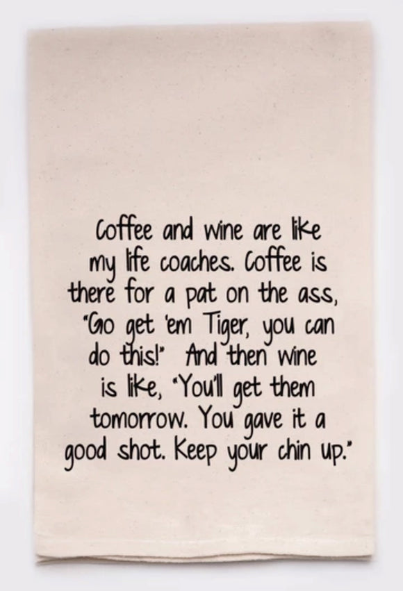 Coffee and Wine - Tea Towel