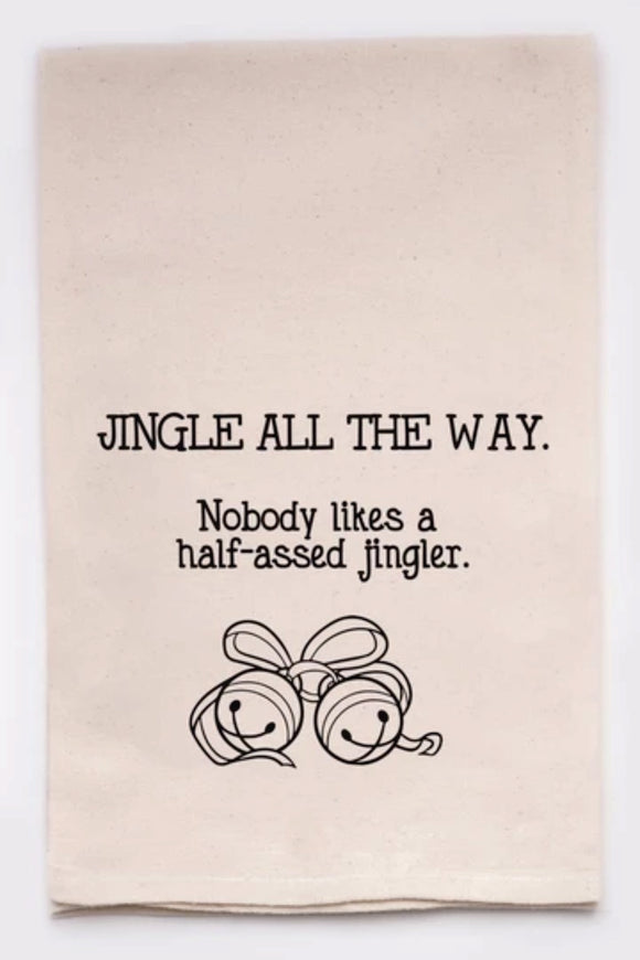 Jingle All the way - Tea Towel