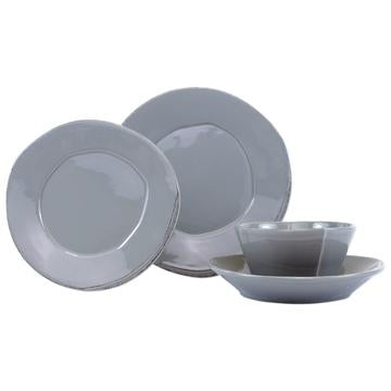 Lastra Gray 4 Pc Place Setting