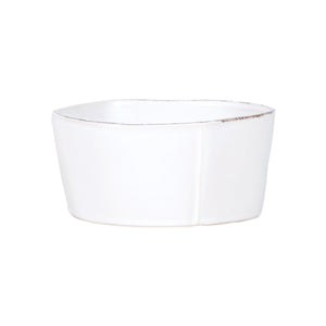 Lastra White Med. Serving Bowl