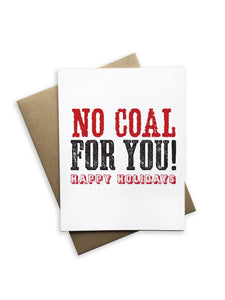 No Coal For You Notecard