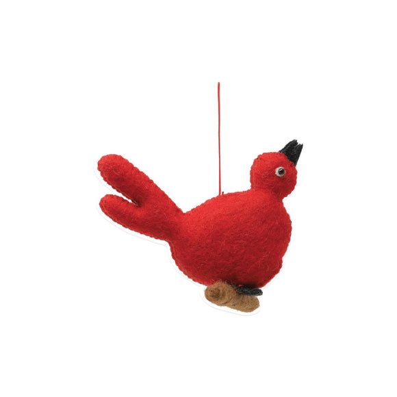 FELT RED BIRD ORNAMENT