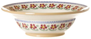 Old Rose Lg Pasta Server Bowl