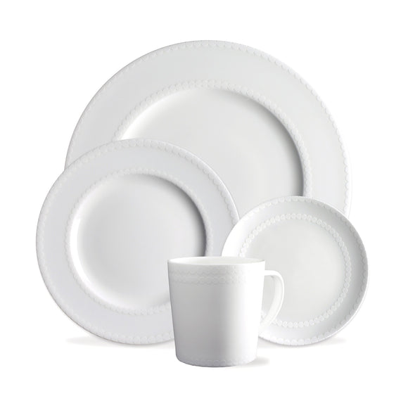 4 Pc Placesetting - Wicker White