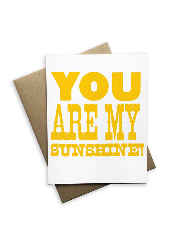 You Are My Sunshine Notecard