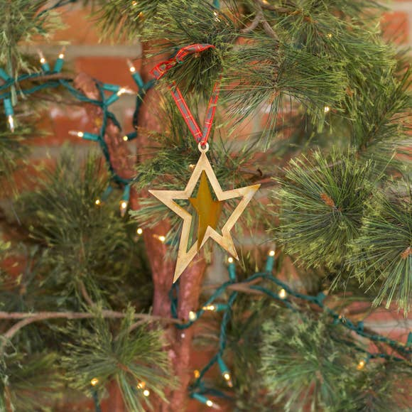 Dimensional Star Ornament - Prairie Dance