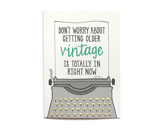 Hennel Paper Co. - Vintage Birthday Card - Aubergine