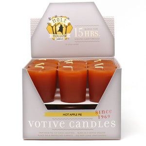 Hot Apple Pie Scented Votive Candles  - Mole Hollow Candles