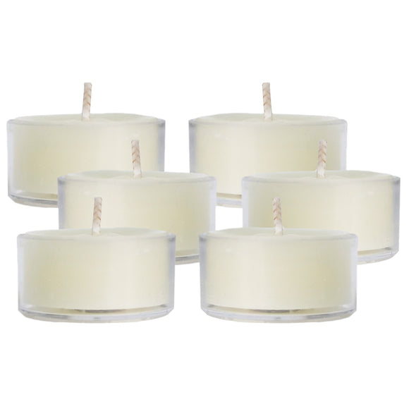 Mole Hollow Candles - Ivory Beeswax Tea Lights, Bag of 6