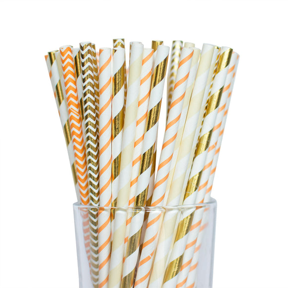 Twigs and Twirls - Autumn Paper Straws 25/pk