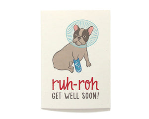 Hennel Paper Co. - Ruh-Roh Get Well Card - Aubergine