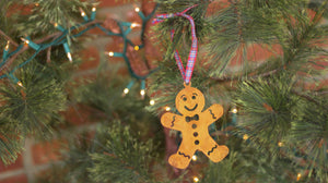 Gingerbread Man Ornament - Prairie Dance