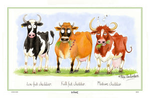 Cheddar Cows Tea Towel