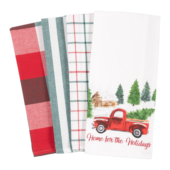 Woodland Truck - Kitchen Towel Set of 4 - KAF Home
