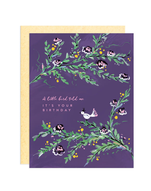 Darling Lemon - Little Bird Birthday Greeting Card