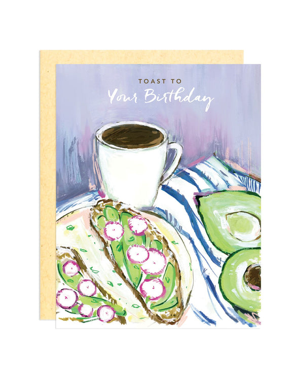 Darling Lemon - Toast To Your Birthday Greeting Card