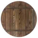 "18"" Ash Lazy Susan with Driftwood Finish"