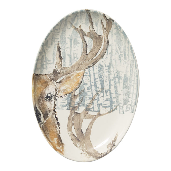 Deer Oval Platter - Into The Woods