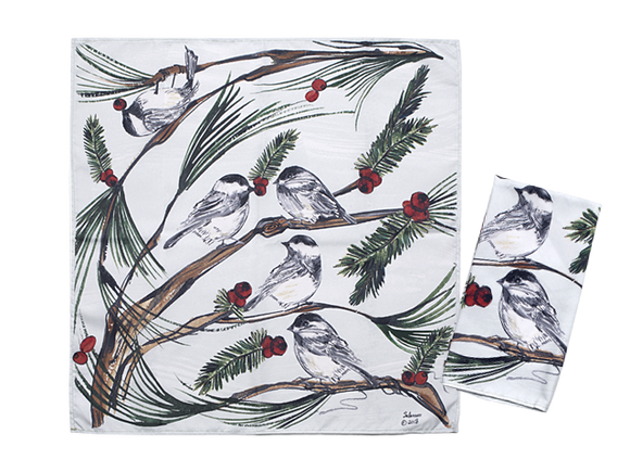 Napkins Chickadees Clay Born