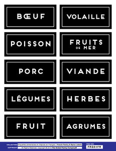 FRENCH : Fridge Labels - Sheet 1