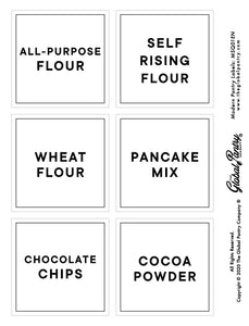 CLEAR square pantry label - 1
