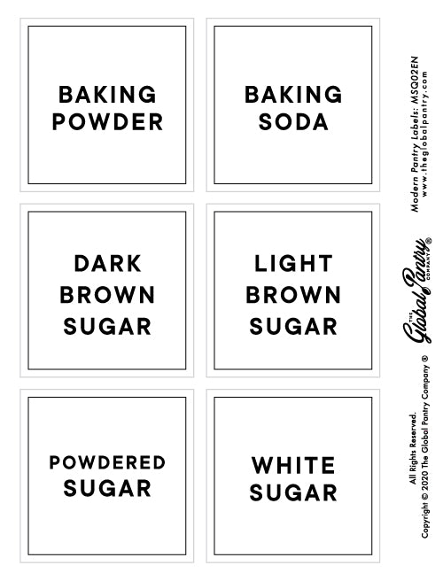 CLEAR square pantry label - 2