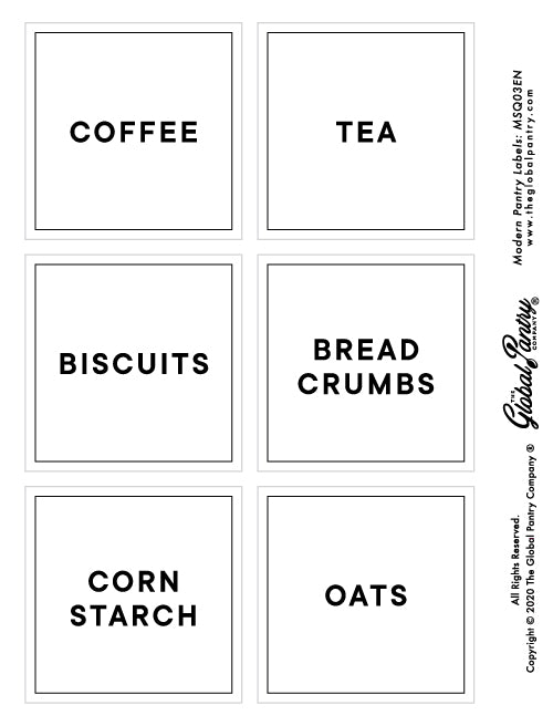 CLEAR square pantry label - 3