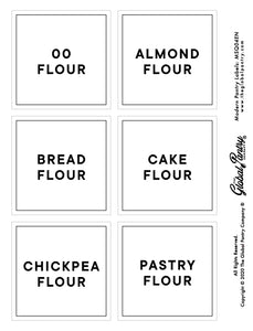 CLEAR square pantry label - 4
