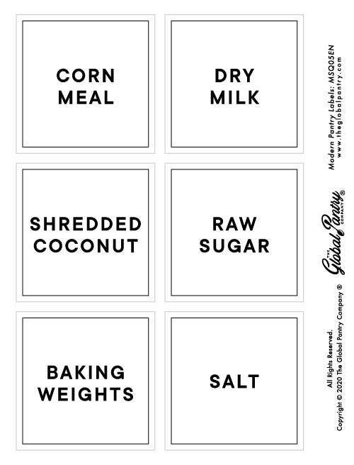 CLEAR square pantry label - 5