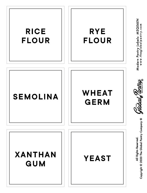 CLEAR square pantry label - 6