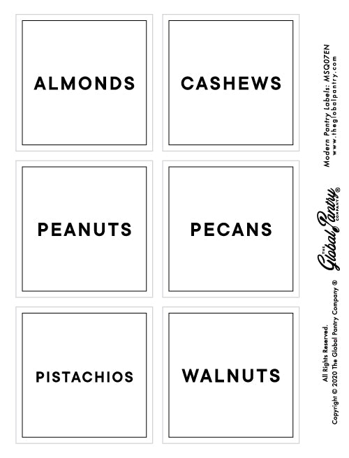 CLEAR square pantry label - 7