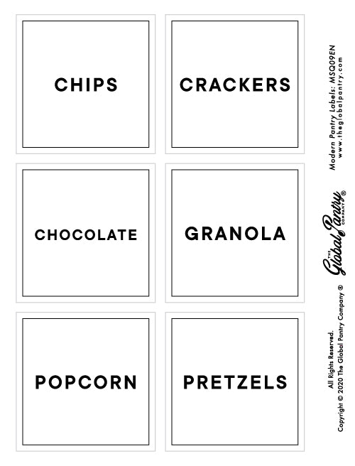 CLEAR square pantry label - 9