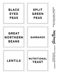 CLEAR square pantry label - 14